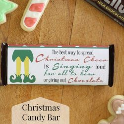 Elf Inspired Printable Christmas Candy Bar Wrapper