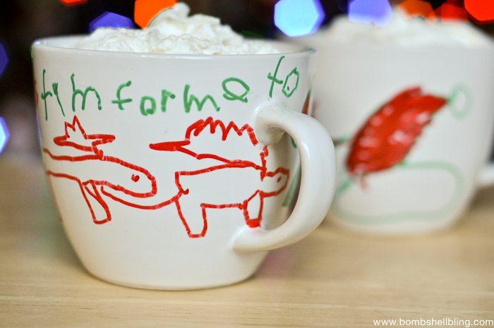 Painters Christmas Mugs Kid Craft-6