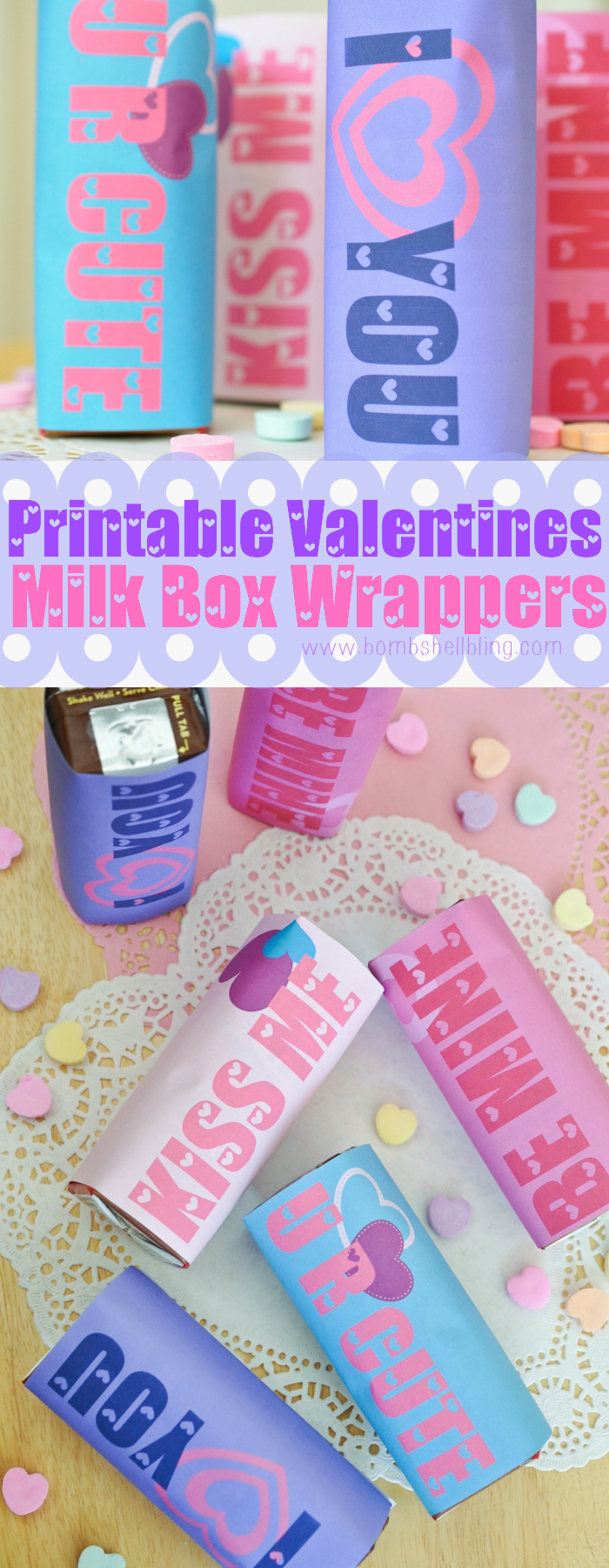 FREE Printable Valentine's Day Milk Box Wrappers
