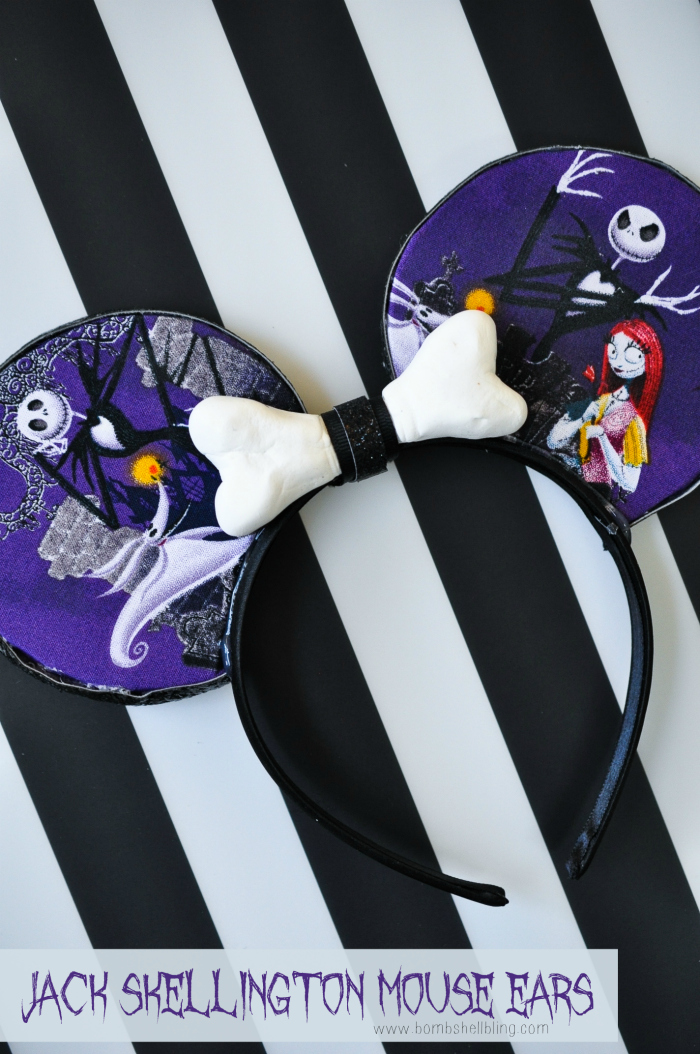 Jack Skellington Mouse Ears DIY Tutorial