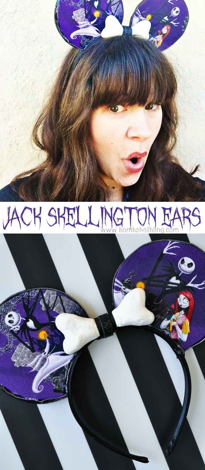 Jack Skellington Mouse Ears Tutorial