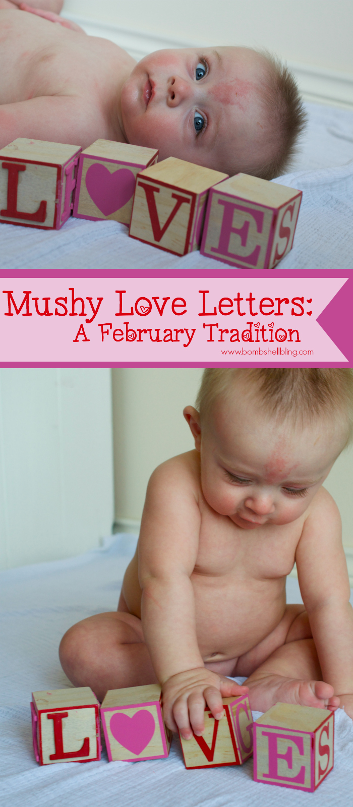 Writing mushy love letters to your children can be a simple, but beautiful and meaningful Valentine's Day tradition!