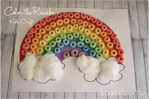 Color the rainbow St. Patrick's Day kid craft with free printable at lizoncall.com