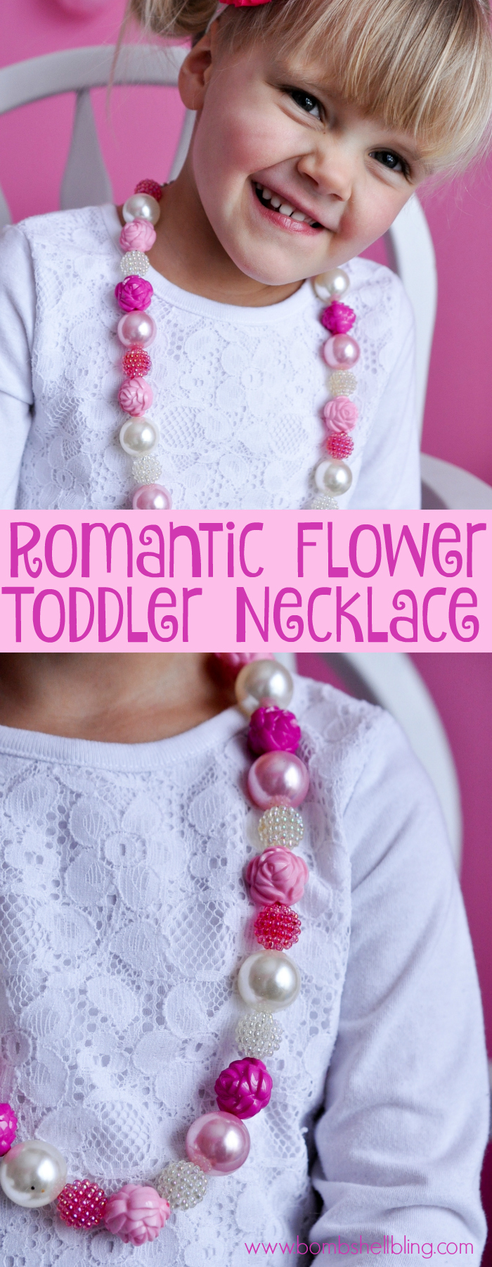 Make a romantic flower toddler necklace with this simple tutorial. Toddler jewelry is simple to make and affordable with these diy tutorials!