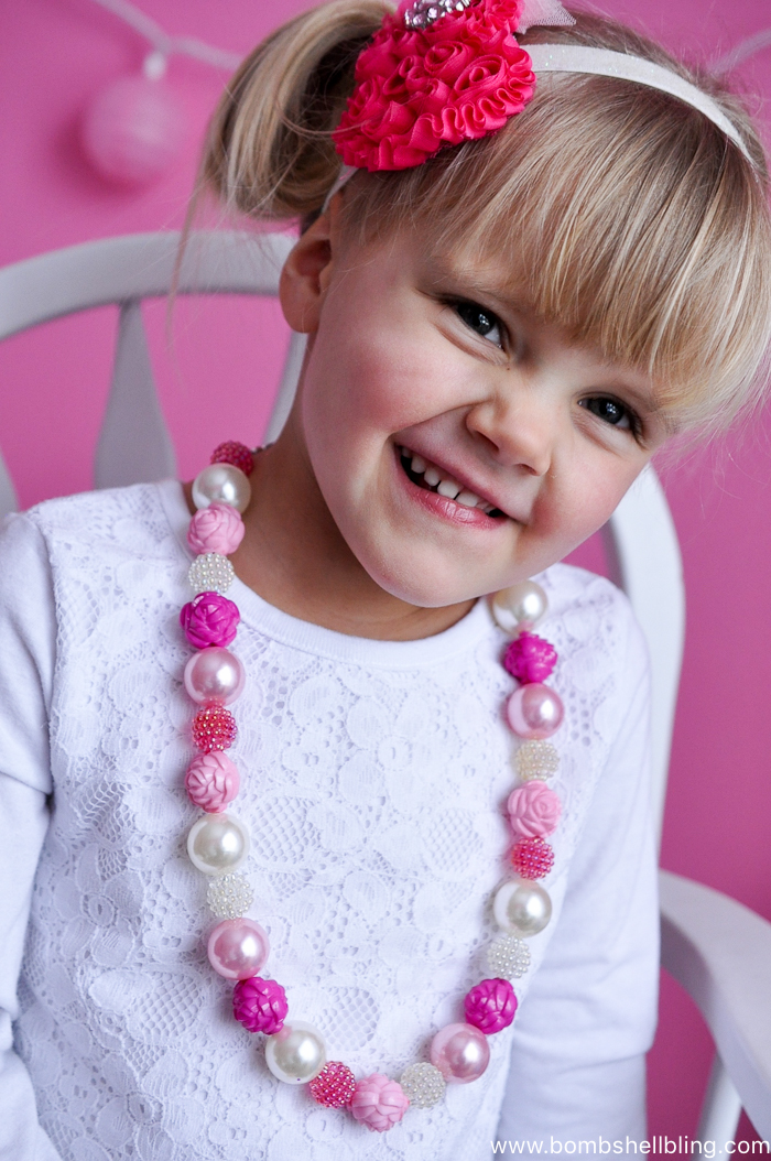 Romantic Flower Toddler Necklace Tutorial-7