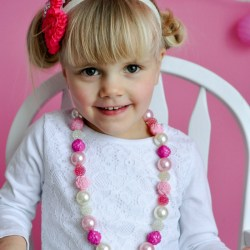 Romantic Flower Toddler Necklace Tutorial