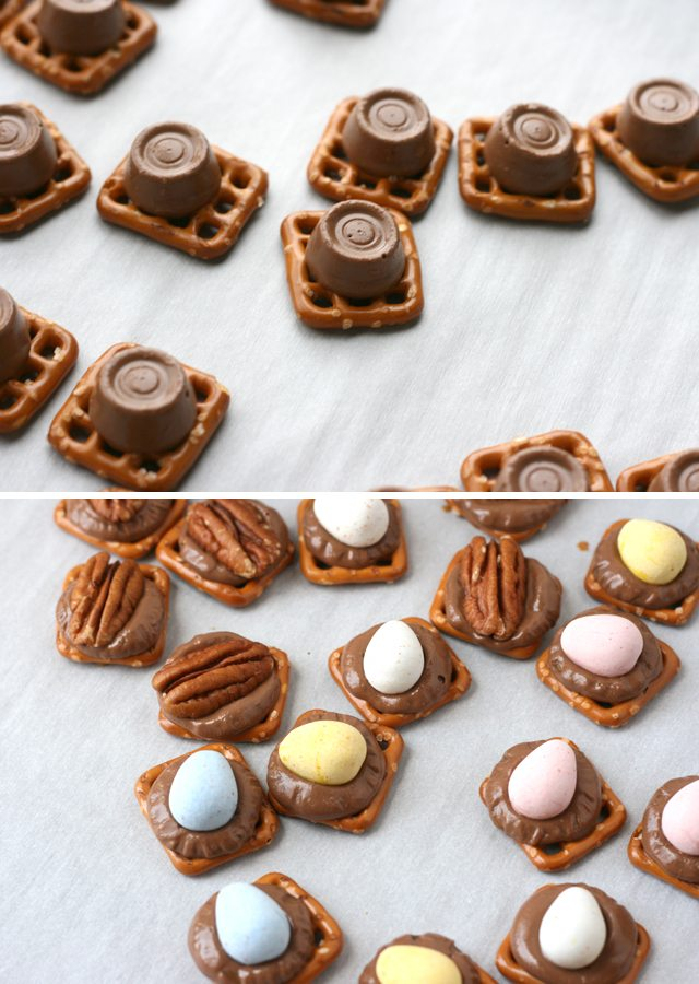 how-to-make-rolo-pretzel-turtles