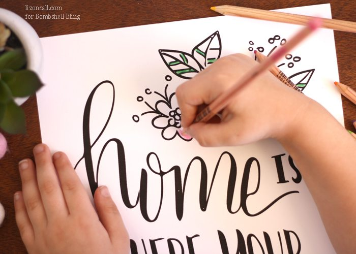 Free printable for Mother's Day. Home is where your mom is. 2 versions to choose from.