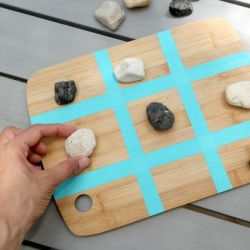 How to Make a Tic Tac Toe Game Out of a Cutting Board