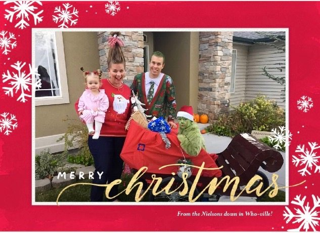 Grinch Christmas Card-Bombshell Bling