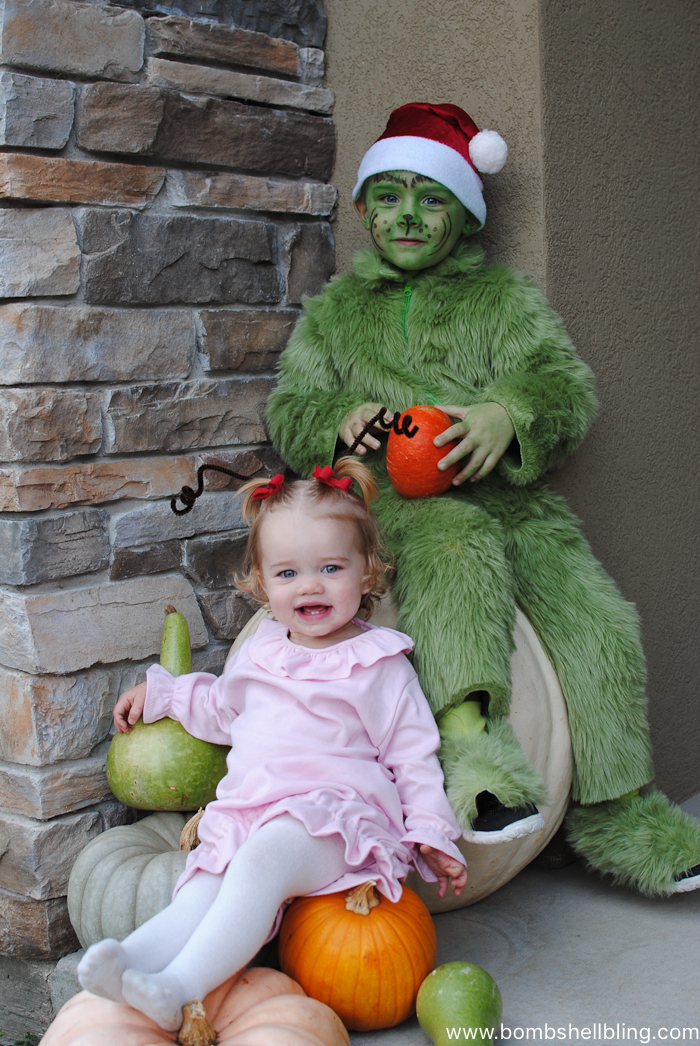 Sibling Halloween Costume, The Grinch--Bombshell Bling