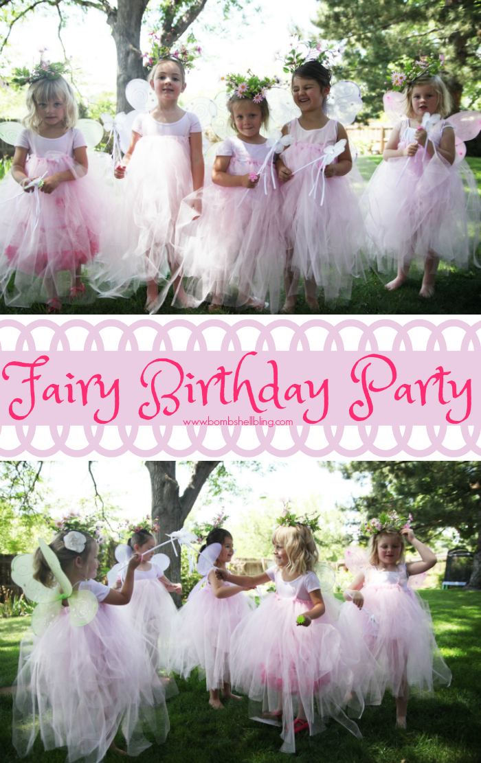 Fairy birthday party pin collage