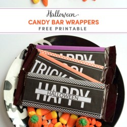 Halloween Candy Bar Wrappers Printable