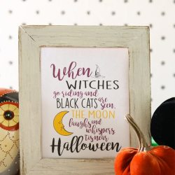 'When Witches Go Riding…' Halloween Printable