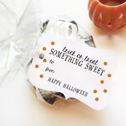 Trick or Treat, Something Sweet – Halloween Gift Tag Printables