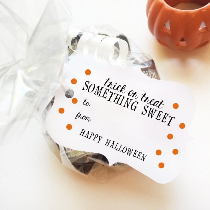 Halloween Gift Tag Printables