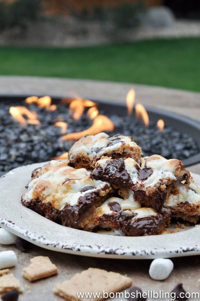 smores magic cookie bars