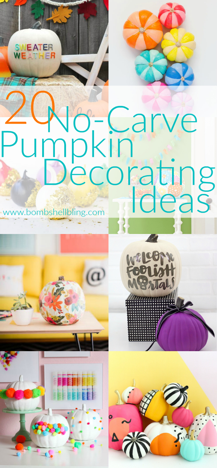 These 20 no carve pumpkin decorating ideas are sure to make your home more festive and beautiful this fall!