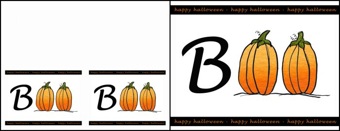 graphic regarding Happy Halloween Cards Printable known as BOO Halloween Printable and Playing cards - Absolutely free upon Bombs Bling