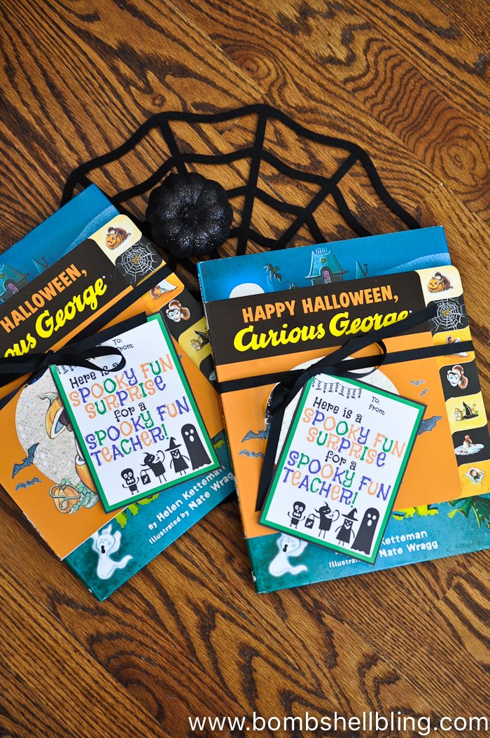 Grab this free Halloween Teacher Gift Printable to surprise your child's teacher with something fun this October!