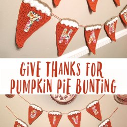 Give Thanks for Pumpkin Pie Crochet Bunting