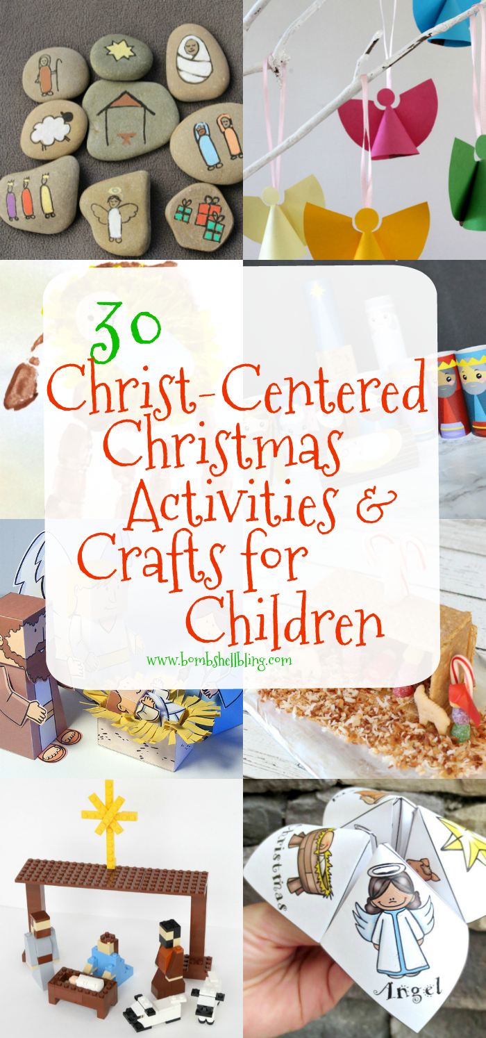 These 30 Christ-Centered Christmas Activities and Crafts for Kids were carefully chosen and brought together for use with your family this holiday season.