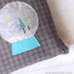 Snow Globe Christmas Pillow