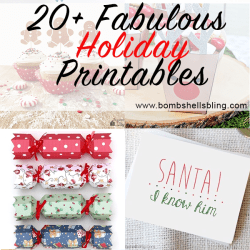 20+ Fabulous and Festive Printables for the Holidays