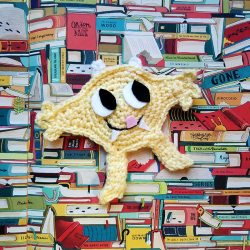 Nibbles the Book Monster Crochet Bookmark