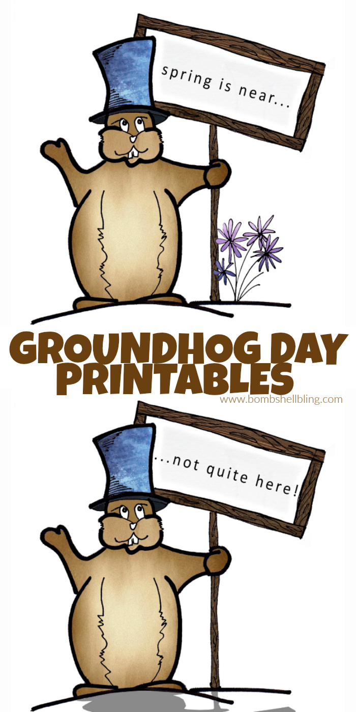 This Groundhog Day printable is so fun for celebrating this unique holiday tradition!