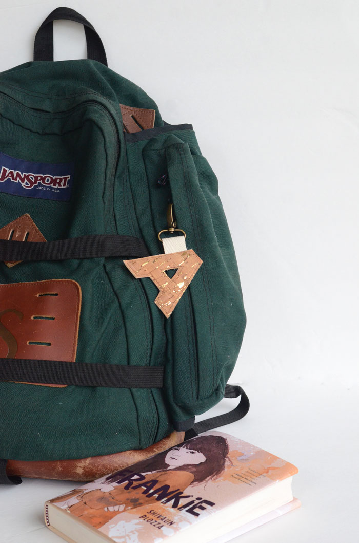 Cork Fabric Monogram Key Fob - Free Sewing Tutorial!