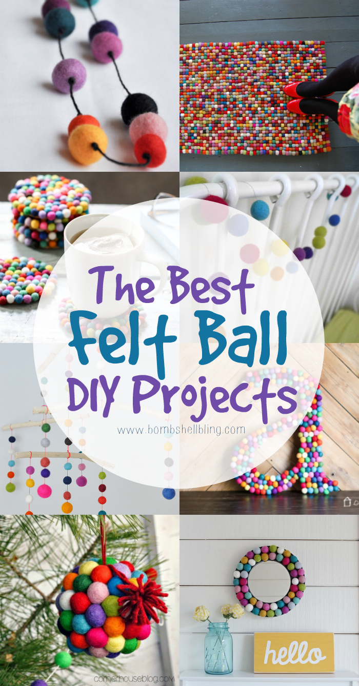 The best felt ball DIY projects from all over the web, all gathered up in one spot to inspire creativity and crafting. SO cute!