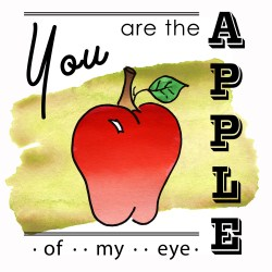 Apple of My Eye Fall Printable