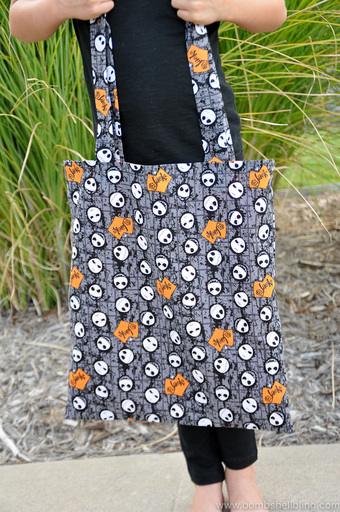 This Jack Skellington Tote Bag is perfect for trick-or-treating or for hauling around any number of things all October long!