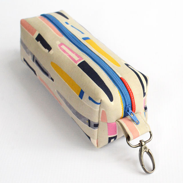 This boxy pencil pouch sewing tutorial is perfect for back-to-school! It is so cute and will help keep track of those stray pens and pencils!
