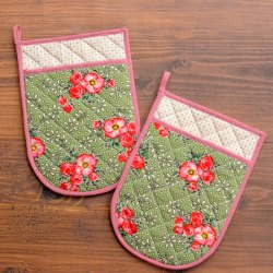 Quilted Pocket Pot Holders Sewing Tutorial and Free Pattern