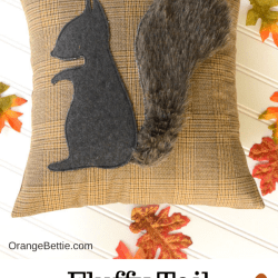 Fluffy Tail Squirrel Pillow – Free Sewing Pattern