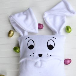Floppy Ear Fleece Bunny Pillow – Free Sewing Pattern