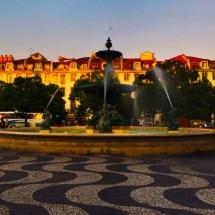 Perfect Light Rossio Sq Fountain 8.13