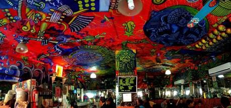 Pulqueria ceiling art