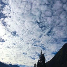Clouds flattened cottonballs