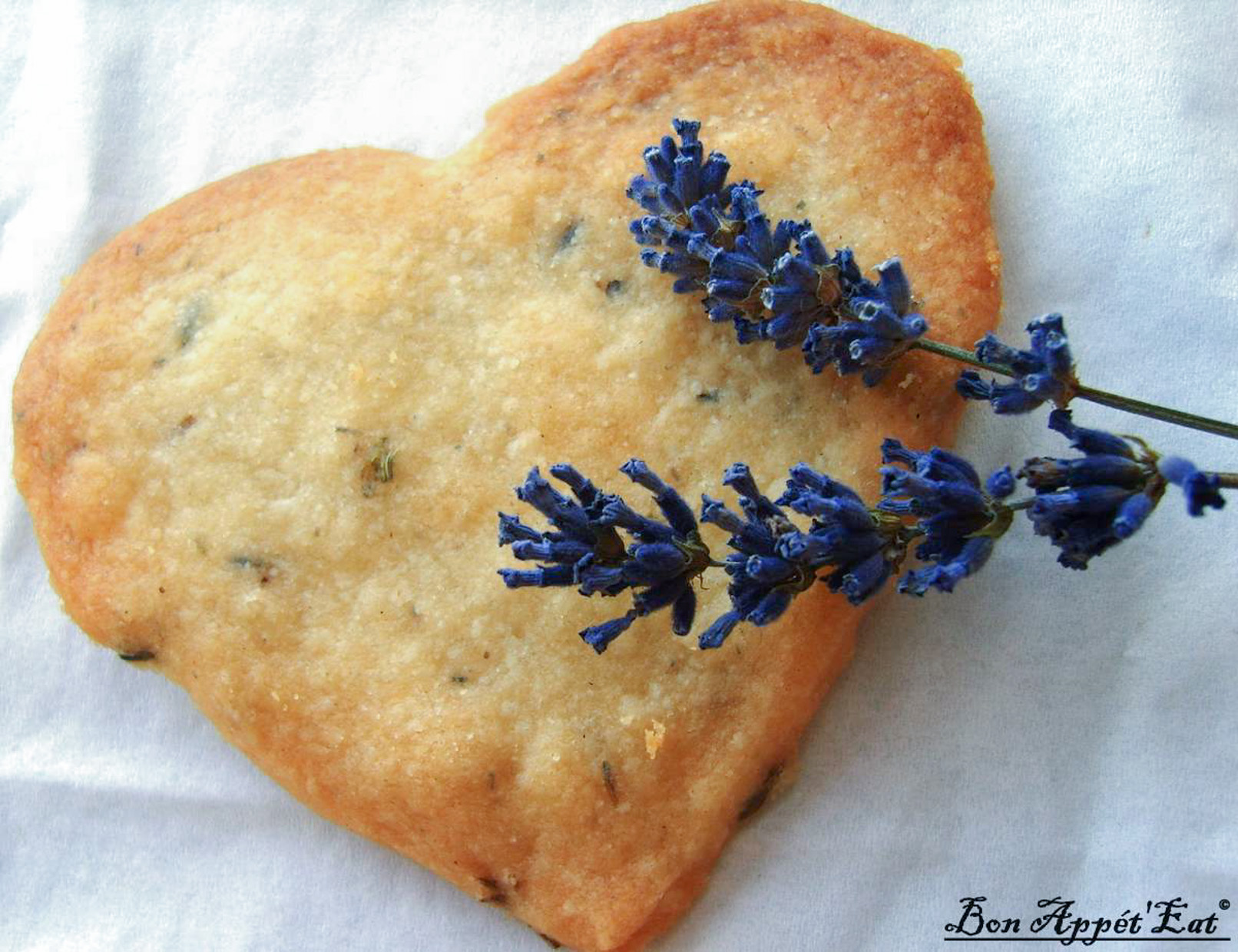When you need a break, take a bite of Provence with a lavender shortbread cookie!