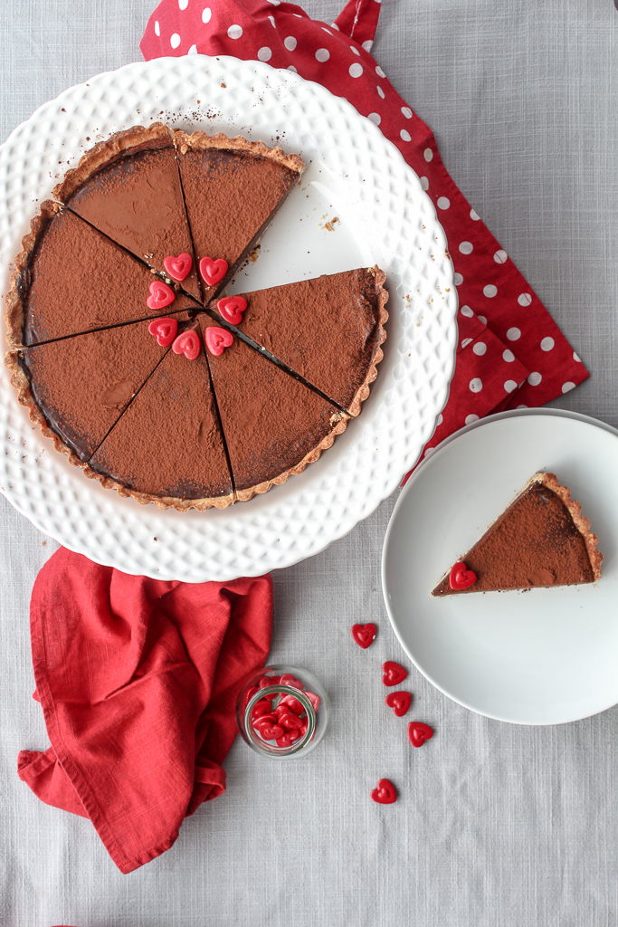 Decadent French chocolate tart