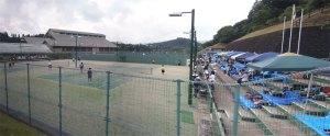 日田市中体連テニスの模様
