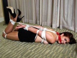 Cute Girlfriend gagged with Bandana and tied with Rope