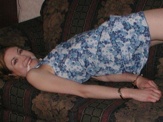 Kinky Girlfriend is happy bound and gagged at Home