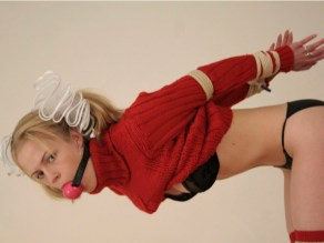 Sexy Blond Klaudia from Germany Ball gagged and tied up