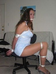 Sexy Wife tightly tied up and gagged on Vacation