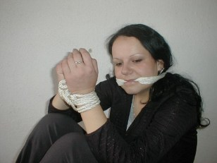 Sexy young Girls look happy bound and gagged