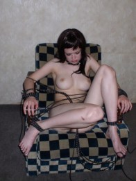 Sexy young Patricia gets tied up and blindfolded